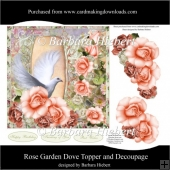 Rose Garden Dove Topper and Decoupage