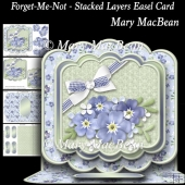 Forget-Me-Not - Stacked Layers Easel Card