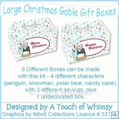 Large Christmas Gable Gift Boxes