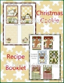 Christmas Cookie Recipe Booklet with Covers & Tab, Recipe Pages