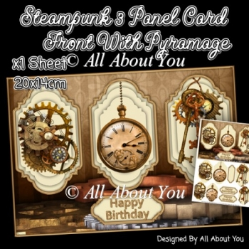 Steampunk 3 Panel Card Front (2)