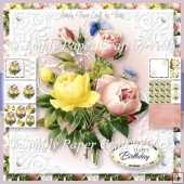 Vintage Flowers and Butterflies 3