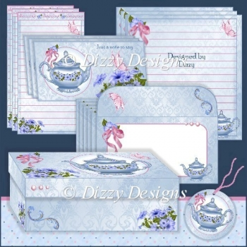 Petunia Teapot Stationery Set