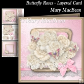 Butterfly Roses - Layered Card