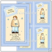 Men's 'Happy Birthday' Humorous Age Card Toppers