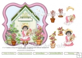 "Grandma's Potting Shed - 6"" x 6"" Card Topper & Decoupage"