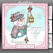 Snowmen Warm The Heart Pink Mini Kit