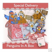 Penguins in a Box 3D Card