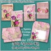 Tulip Notelets Kit with Folder