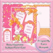Bunny 1 Eggstratoo Scallop Pocket Card