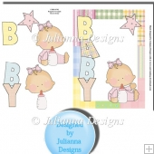 Baby Girl 2 Card Front