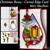 Christmas Boxes - Curved Edge Card