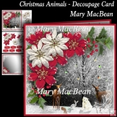 Christmas Animals - Decoupage Card