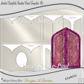 Arched Gatefold Stacked Card Template #2