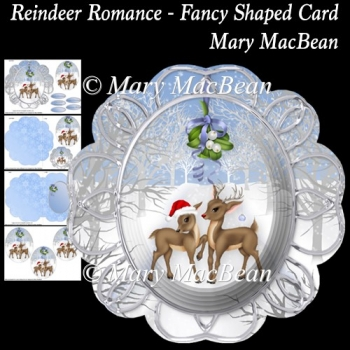 Reindeer Romance - Fancy Shaped Card