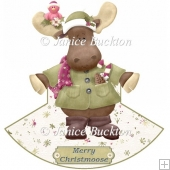 Merry Christmoose Rocker Card