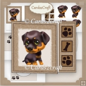 Off cut puppy card set