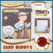 While Shepherds Watch Shaped Fold Card Kit