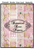 Botanical Roses Background Backing Papers