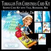Toboggan Fun Christmas Card Kit