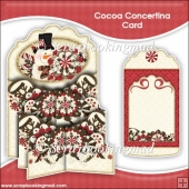 Cocoa Concertina Card & Envelope
