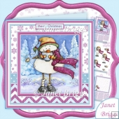 FROSTY SNOWMAN CUP OF COCOA Christmas Decoupage & Insert Kit