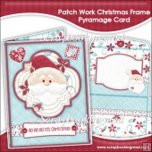 Patch Work Christmas Frame Pyramage Card and Envelope