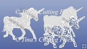 Filigree Unicorn card Topper