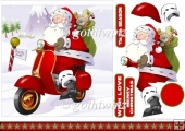 Moped Santa 7x7 With Matching Insert