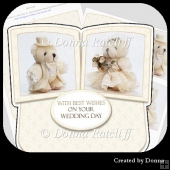 Wedding Teddies Twisted Easel Card