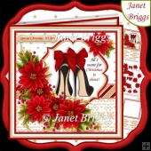 ALL I WANT FOR CHRISTMAS IS SHOES 7.5 Decoupage & Insert Kit
