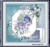 Lilac and blue poppy