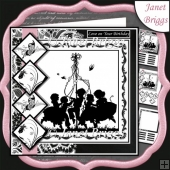 MAYPOLE DANCE SILHOUETTE 7.5 Quick Layers Card & Insert Kit