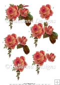GSD PNC Bronze Roses Decoupage Cutting Machine File