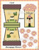 HUGS Decoupage Flowerpot Card