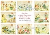 Toppers or ATC Cards - Little Ladies
