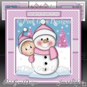 Baby Girl & Snowman Mini Kit