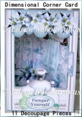 Pamper Yourself Dimensional Corner Card with Decoupage
