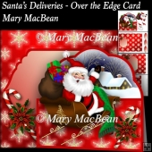 Santa's Deliveries - Over the Edge Card and Envelope