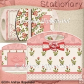 Stationary Bag Folder Red Rose