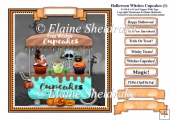 Halloween Witches Cupcakes (1) Card Topper & Tags