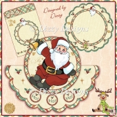 Jolly Santa Over The Top Shaped Card Kit