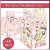 Pink Santa Paws Advent Drawers
