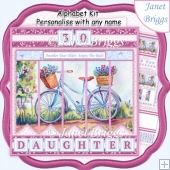 LADIES BICYCLE 7.5 Alphabet and Age Quick Card Kit