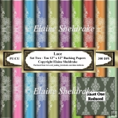 Floral Lace - Set Two - Ten 12 x 12 Sheets of Backing Paper