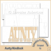 Aunty Word book Template Personal Use