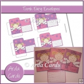 Pink & Purple Girl Tooth Fairy Envelopes