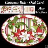 Christmas Bells - Oval Card