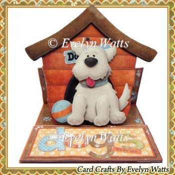 Its A Dogs Life Shaped Easel Card Kit