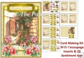 Cottage card 5. 30 Sentiment tags, inserts, decoupage Female